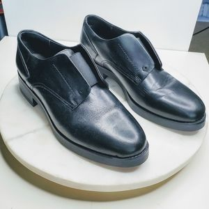 Fabianelli Black Leather Women Oxford Shoes